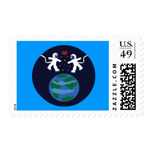 Astronaut Love Stamps