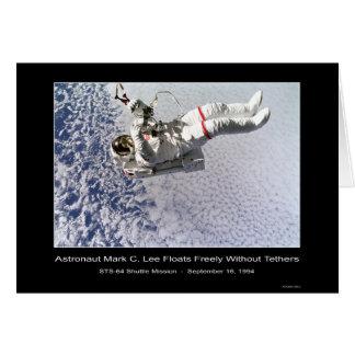 "Astronaut Mark C. Lee Tests ""SAFER"" Sky Walk Card"