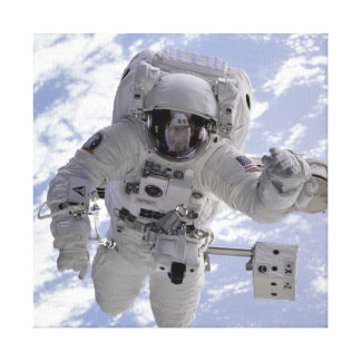 Astronaut Michael Gernhardt in Space During STS-69 Canvas Print