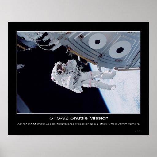 Astronaut Michael Lopez-Alegria Poster