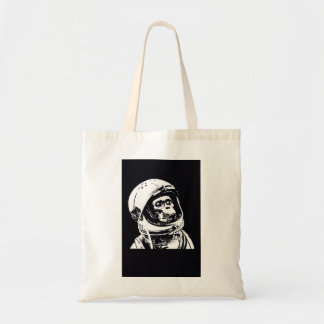 Astronaut Monkey Tote Bag
