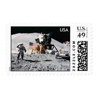 Astronaut Moon Landing USA Stamp