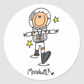 Astronaut Moonwalk Tshirts and Gifts Classic Round Sticker