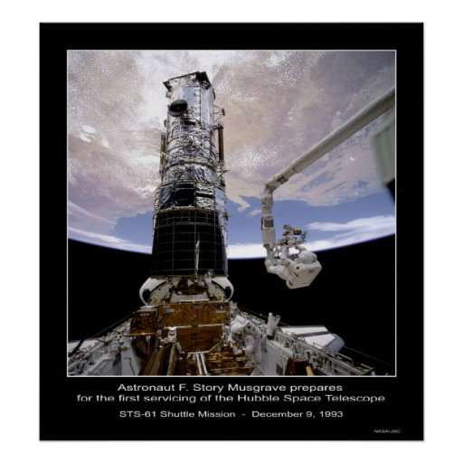 Astronaut Musgrave Hubble Space Telescope Posters
