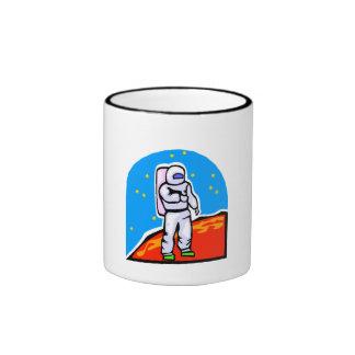 Astronaut On Mars Mugs
