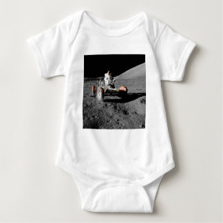 Astronaut on Moon Rover During Apollo 17 Mission Baby Bodysuit