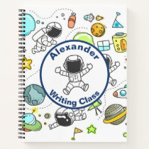 Astronaut Outer Space Personalized Back To School Notebook