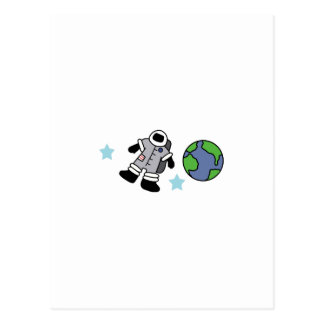 ASTRONAUT OUTER SPACE POSTCARD