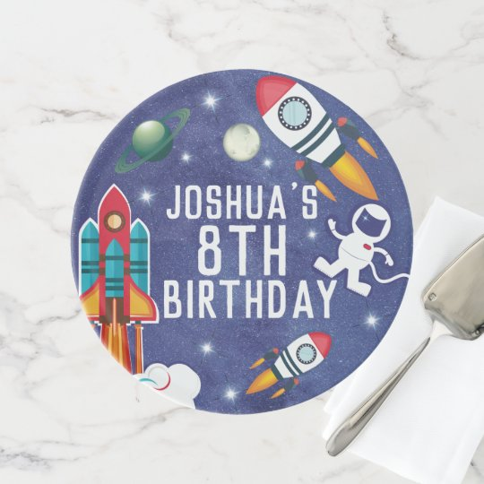 Miraculous Astronaut Outer Space Rocket Ship Birthday Party Cake Stand Funny Birthday Cards Online Overcheapnameinfo