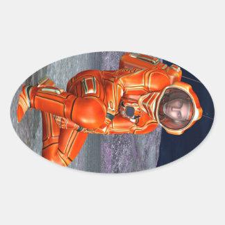 Astronaut Oval Sticker