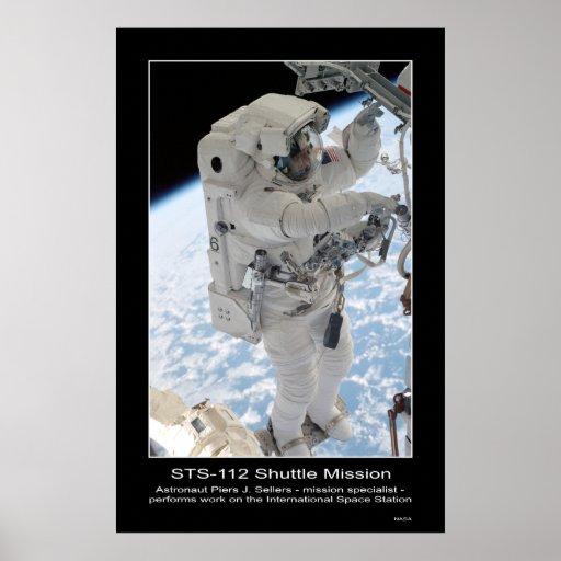 Astronaut Piers J. Sellers Spacewalk NASA STS-112 Poster