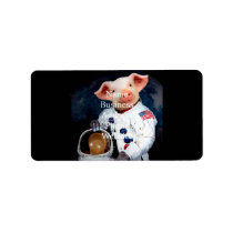 Astronaut pig - space astronaut label
