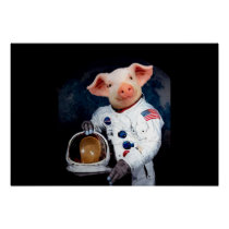 Astronaut pig - space astronaut poster