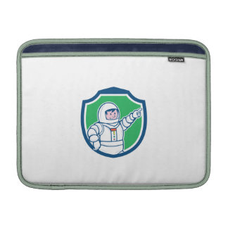Astronaut Pointing Front Shield Cartoon MacBook Sleeves
