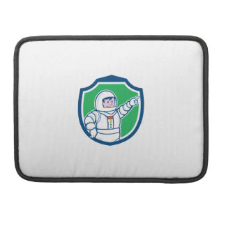 Astronaut Pointing Front Shield Cartoon Sleeves For MacBooks