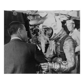 Astronaut preparing for insertion into Freedom 7 Poster