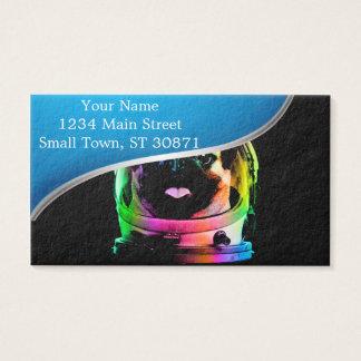 Astronaut pug - galaxy pug - pug space - pug art business card