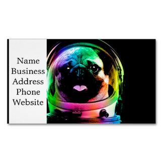 Astronaut pug - galaxy pug - pug space - pug art business card magnet