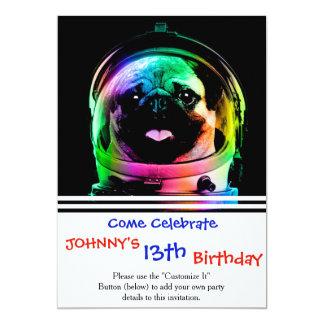 Astronaut pug - galaxy pug - pug space - pug art card