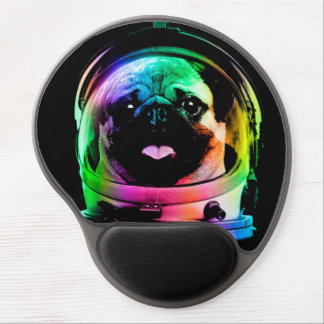 Astronaut pug - galaxy pug - pug space - pug art gel mouse pad
