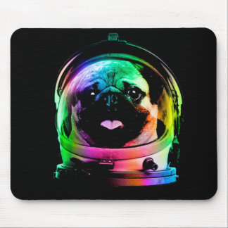 Astronaut pug - galaxy pug - pug space - pug art mouse pad