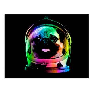 Astronaut pug - galaxy pug - pug space - pug art postcard