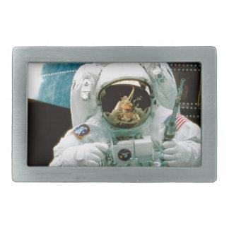 Astronaut Repairing Hubble Belt Buckles