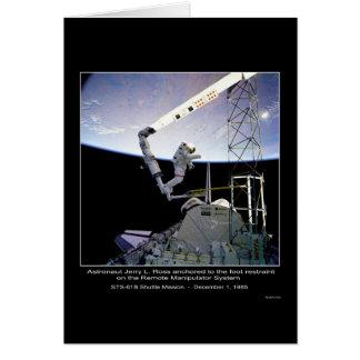 Astronaut Ross anchored NASA STS-61B Nasa Card