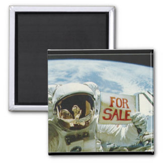 Astronaut Sells Earth 2 Inch Square Magnet