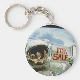 Astronaut Sells Earth Basic Round Button Keychain