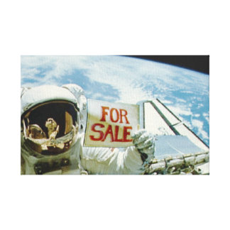 Astronaut Sells Earth Canvas Print