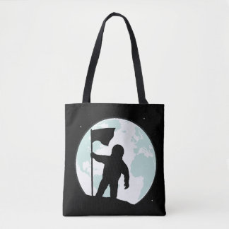 Astronaut Silhouette Tote Bag