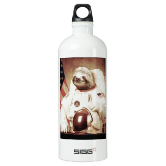 Astronaut Sloth Aluminum Water Bottle