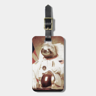 Astronaut Sloth Bag Tag