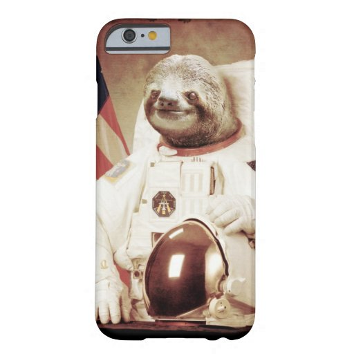 sloth iphone case astronaut sloth barely there iphone 6 zazzle 6114