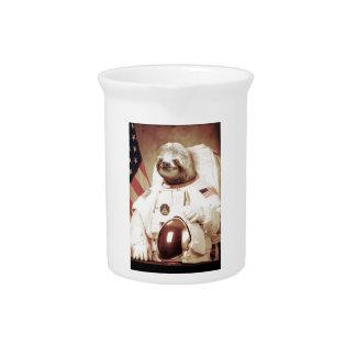 Astronaut Sloth Beverage Pitcher