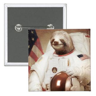 Astronaut Sloth Button