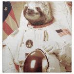 Astronaut Sloth Cloth Napkins