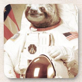 Astronaut Sloth Beverage Coaster