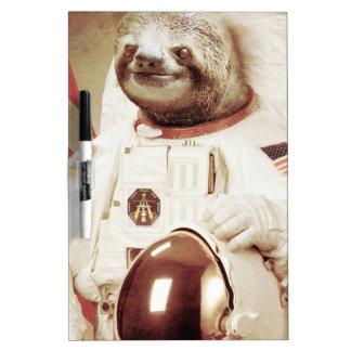 Astronaut Sloth Dry Erase Board