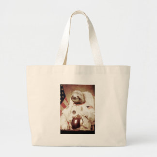 Astronaut Sloth Large Tote Bag