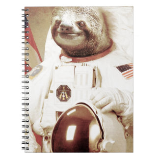 Astronaut Sloth Notebook