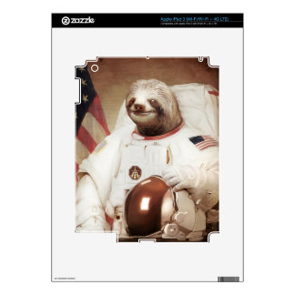 astronaut sloth skins for iPad 3