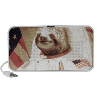 Astronaut Sloth Portable Speakers