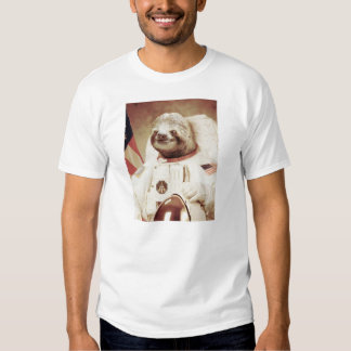 Astronaut Sloth Tee Shirt