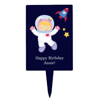 Astronaut Space Birthday Party Cake Picks