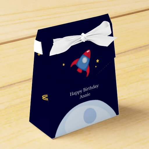 Personalized Party Favor Boxes Birthday : Astronaut space birthday party personalized favor box zazzle