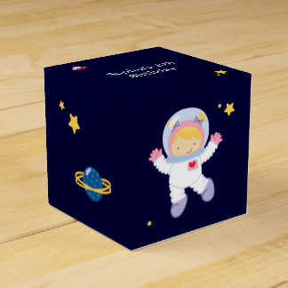 Astronaut Space Birthday Party Personalized Favor Box