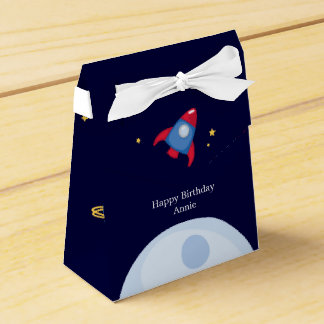 Astronaut Space Birthday Party Personalized Favor Boxes