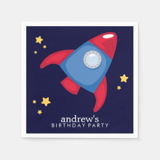 Astronaut Space Birthday Party Personalized Napkin